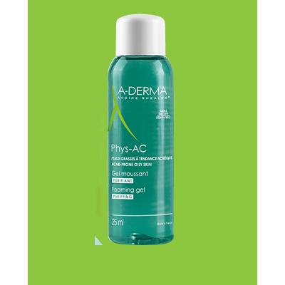 A-Derma Phys-AC Gel Moussant Purifiant Εξυγιαντικό Αφρίζον Τζελ για Δέρματα με Τάση Ακμής, 400ml
