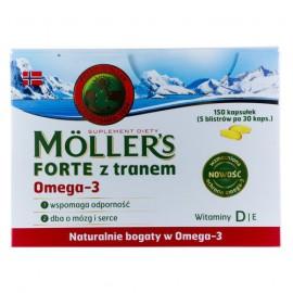 Mollers Forte Μίγμα Ιχθυελαίου & Μουρουνέλαιου Πλούσιο σε Ω3 Λιπαρά Οξέα Mollers 150caps