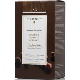 Korres Argan Oil Advanced Colorant Μόνιμη Βαφή Μαλλιών 6.3 Ξανθο Σκουρο Μελι 50ml