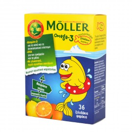 Mollers Omega-3 Kids Ζελεδάκια με Ω3 Λιπαρά Οξέα Ειδικά Σχεδιασμένο για Παιδιά 36gummies