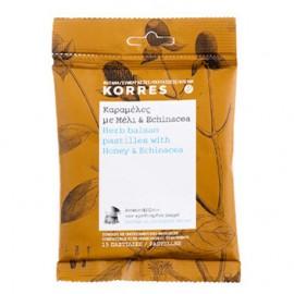 Korres Καραμέλες με Μέλι και Echinacea που Ανακουφίζουν τον Ερεθισμένο Λαιμό, 15 παστίλιες