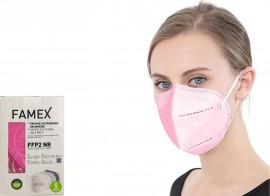 Famex Particle Filtering Mask FFP2 NR Pink/Ροζ 10τμχ