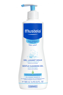 Mustela Gel Lavant Doux, Απαλό Τζελ Καθαρισμού για Μαλλιά & Σώμα με Avocado, 500ml