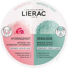 LIERAC Hydragenist SOS Moisturizing Oxygenating Mask για Ενυδάτωση, Οξυγόνωση & Επαναπύκνωση, 6ml & Sebologie Deep Cleansing Scrub Mask Μάσκα Προσώπου για Βαθύ Καθαρισμό για Μικτές - Λιπαρές Επιδερμίδες, 6ml