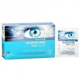 Helenvita BlephaCare Duo Wipes Μαντηλάκια Καθαρισμού Και Απολύμανσης Για Την Περιοχή Των Ματιών 14τμχ