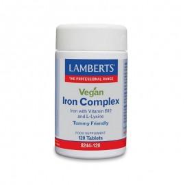 Lamberts Vegan Iron Complex Φόρμουλα Σιδήρου & B12 για Χορτοφάγους, 120 tabs