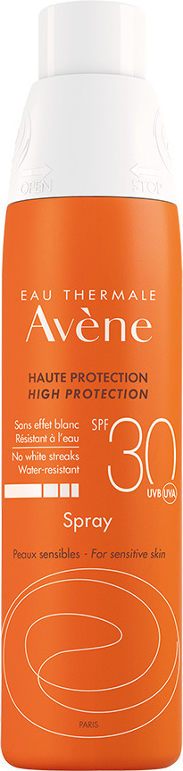 Avene Solaire Spray High Protection Spf30+, Αντηλιακό Σπρέι Για Πρόσωπο & Σώμα, 200ml