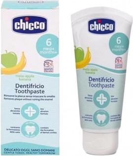 CHICCO Toothpaste Οδοντόκρεμα 6m+ με Γεύση Μήλο-Μπανάνα 50ml