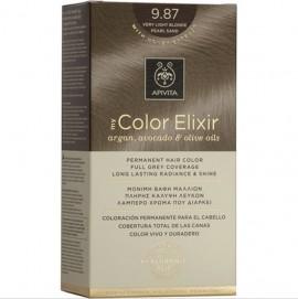 Apivita Βαφή Μαλλιών 9.87 My Color Elixir Κit Μόνιμη Ξανθό Πολύ Ανοιχτό Περλέ Μπεζ