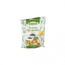 Carraro Καραμέλες Για Το Λαιμό Με Πράσινο Τσάι & Σπιρουλίνα 100gr