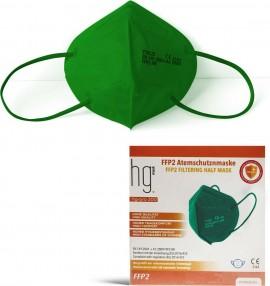 Poli HG Pro 200 FFP2 Filtering Half Mask Green, Μάσκα Υψηλής Προστασίας Πράσινη, 10τμχ