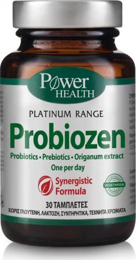 Power Health Classics Platinum Range Probiozen, Συμπλήρωμα Προβιοτικών & Πρεβιοτικών για την Καλή Υγεία του Εντέρου, 30 ταμπλέτες