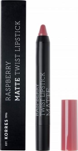 Korres Raspberry Matte Twist Lipstick Misty Rosebush 1.5g