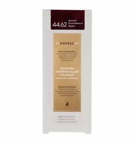Korres Abyssinia Superior Gloss Colorant Μόνιμη Βαφή Μαλλιών 44.62 Καστανό Έντονο Κόκκινο - Βιολετί 50ml