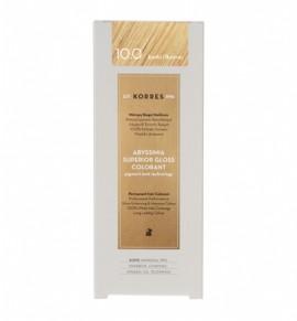 Korres Abyssinia Superior Gloss Colorant Μόνιμη Βαφή Μαλλιών 10.0 Ξανθό Πλατίνας 50ml