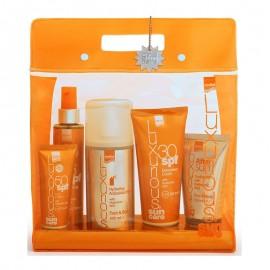 Intermed Luxurious Suncare High Protection Promo Pack με Sunscreen Body Cream SPF30, Αντηλιακή Κρέμα Σώματος, 200ml & Face Cream SPF50+, Αντηλιακή Προστασία Προσώπου, 75ml & Tanning Oil Spf6, Ξηρό Λάδι Σώματος, 200ml & After Sun Cooling Face & Body Gel,