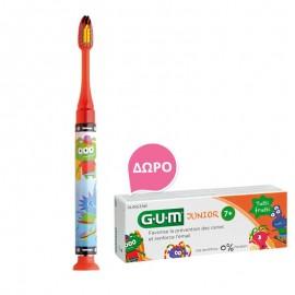 Gum Set Junior Light-Up Red Soft Οδοντόβουρτσα + Δώρο Junior Οδοντόκρεμα 7-12 Ετών Tutti Frutti 50ml
