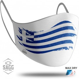 Unisex Μάσκα Προστασίας GREECE Flag White, SAGG