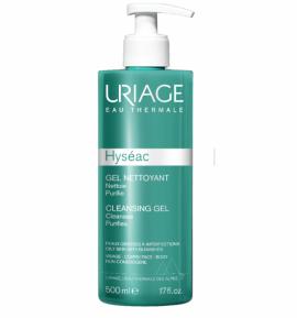 Uriage Hyseac Cleansing Gel Τζελ Καθαρισμού Προσώπου & Σώματος για τη Λιπαρή Επιδερμίδα με Τάση για Ακμή, 500ml