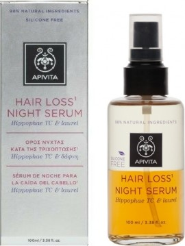 Apivita Hair Loss Night Serum με Hippophae TC & Δάφνη 100ml