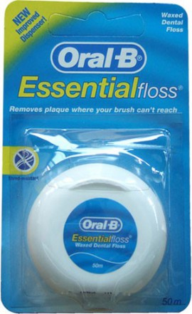 Oral-B Essential Floss Κηρωμένο Οδοντικό Νήμα 50m, 1τμχ