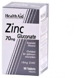 Health Aid Zinc Gluconate 70mg Συμπλήρωμα Διατροφής Ψευδαργύρου για Τόνωση Ανοσοποιητικού, Καλή Υγεία Δέρματος & Αναπαραγωγικού, 90tabs