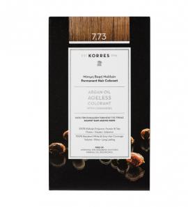 Korres Argan Oil Ageless Colorant Μόνιμη Βαφή Μαλλιών 7.73 Χρυσή Μόκα 50ml