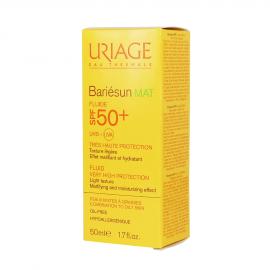 Uriage Bariesun Mat Fluide SPF50+ Αντηλιακό Προσώπου για Ματ Αποτέλεσμα, 50ml