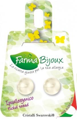 Farma Bijoux Σκουλαρίκια Μαργαριτάρι 4mm, 1 Ζευγάρι