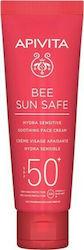 Apivita Bee Sun Safe Hydra Sensitive Face Cream Καταπραϋντική Κρέμα Προσώπου για Ευαίσθητες Επιδερμίδες SPF50+, 50ml