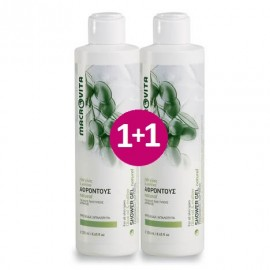 Macrovita Πακέτο Προσφοράς Αφροντούς με Λάδι Ελιάς & Μολόχα Natural Shower Gel 1+1 Δώρο 2x250ml