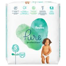 Pampers Pure Protection No.5 (11+kg) Πάνες, 24 τεμάχια