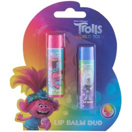 Dreamworks Trolls World Tour Duo Kit Lip BalmLip Balm Cherry, 4,2gr & Lip Balm Lemon, 4,2gr