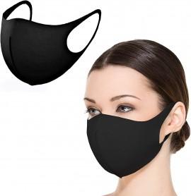 Nano Υφασμάτινη Μάσκα Προσώπου Ενηλίκων Με Ραφή Πολλαπλών Χρήσεων Μαύρη, 1τμχ