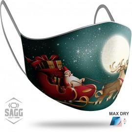 Παιδική Μάσκα Προστασίας Santa Claus 9, SAGG