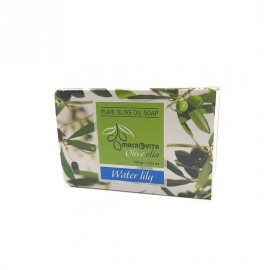Macrovita Pure Olive Oil Soap Φυσικό Σαπούνι Ελαιολάδου Water Lily 100gr
