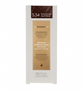 Korres Abyssinia Superior Gloss Colorant Μόνιμη Βαφή Μαλλιών 5.34 Καστανό Ανοιχτό Χρυσό-Χάλκινο 50ml