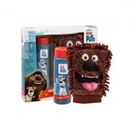 The Secret Life of Pets Wash Mitt Σετ Παιδικό Αφρόλουτρο Σώματος, 250ml & Συλλεκτικό Σφουγγάρι Μπάνιου