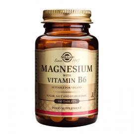 SOLGAR MAGNESIUM+B6 100TAB