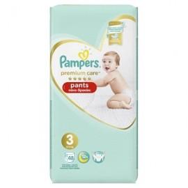 Pampers Premium Care Πάνες Βρακάκι Μέγεθος 3 (6-11kg), 48 Πάνες