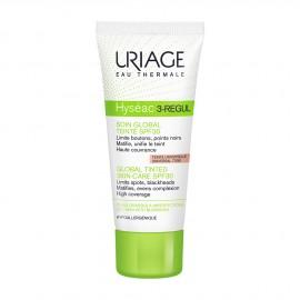 Uriage Hyseac 3 Regul Global Tinted Skin Care SPF30 Ενυδατική Κρέμα προσώπου με χρώμα, 40ml