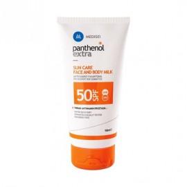 Panthenol Extra Sun Care Face & Body Milk SPF50 Αντιηλιακό Γαλάκτωμα Προσώπου & Σώματος, 150ml