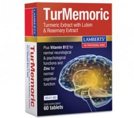 Lamberts TurMemoric, Συμπλήρωμα με Εκχύλισμα Ρίζας Κουρκουμά για την Καλή Λειτουργία Εγκεφάλου, 60 ταμπλέτες (8541-60)