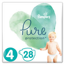 Pampers Pure Protection No.4 (9-14kg) Πάνες, 28 τεμάχια