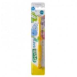 Gum 213 Baby Soft Κίτρινη Οδοντόβουρτσα 0-2 Ετών 1τμχ