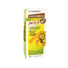 Arkopharma Arkoroyal Junior Σύμπλεγμα Βιταμινών με Βασιλικό Πολτό Ιδανικό για Παιδιά, 150ml