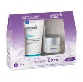 Panthenol Extra Promo Pack Face & Eye Cream Αντιρυτιδική Κρέμα για Πρόσωπο & Μάτια, 50ml & Face Cleansing Gel Τζελ Καθαρισμού Προσώπου, 150ml