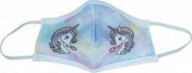 Μάσκα Παιδική Υφασμάτινη Πολλαπλών Χρήσεων, Unicorn