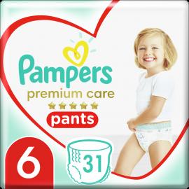Pampers Pants Premium Care Πάνες Βρακάκι No6 (15+ Kg), 31 Πάνες Βρακάκι