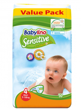 Babylino Sensitive Value Pack No4 (7-18Kg) 50τεμ